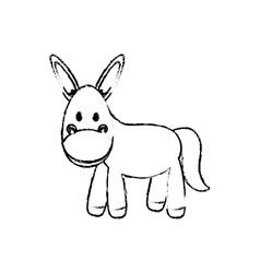 Donkey animal cartoon vector image