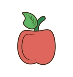 Drawing apple school teacher student symbol vector