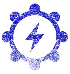 Electric energy cogwheel textured icon vector