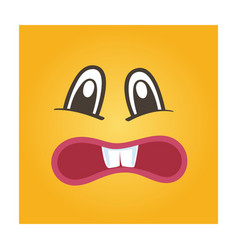 Embarrassed smiley face icon vector