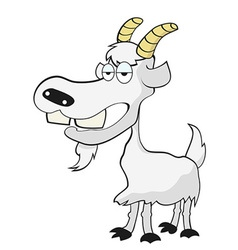 funny goat vector image vector image