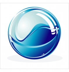 glossy sphere vector image vector image
