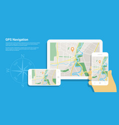 gps navigation map vector image vector image