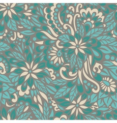 Green meadow Seamless decorative pattern vector image