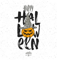 Halloween with pumpkin vector image vector image
