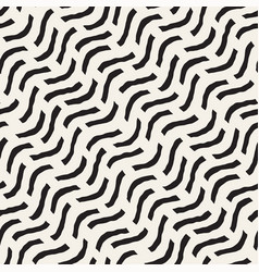 hand drawn scattered wavy lines monochrome texture vector image