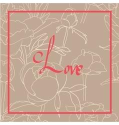 Handwritten Love Script vector image vector image