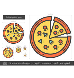 Italian pizza line icon vector