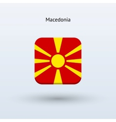 Macedonia flag icon vector
