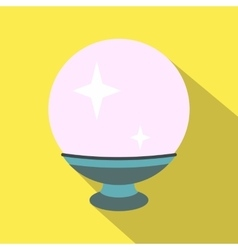 Magic ball flat icon vector