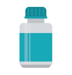 medicine bottle capsule icon vector image vector image