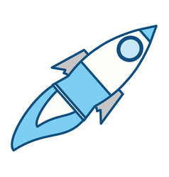 rocket spaceship isolated vector image