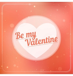 Romantic typography on a soft blurry background vector image