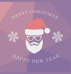 Santa claus with beard vector