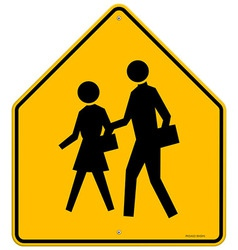 School Warning Sign vector image vector image