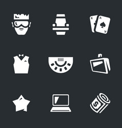 Set of casino icons vector