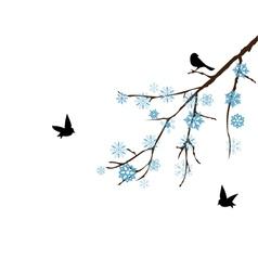 Snow branch vector
