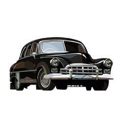 Soviet retro car black vector