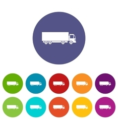 Truck set icons vector