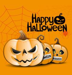 Turning into a halloween pumpkin vector