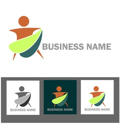 Wellness and health business logo vector image vector image