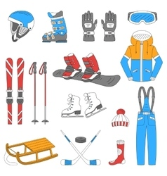 Winter sports collection vector image vector image