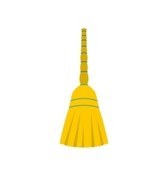 Yellow broom flat vector