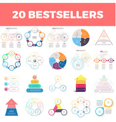 Infographic elements with 2 3 4 5 6 steps vector