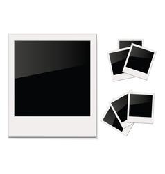 Empty shiny photo polaroid isolated on white vector