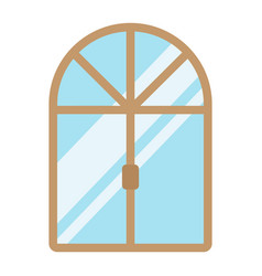 Window flat icon furniture and interior vector