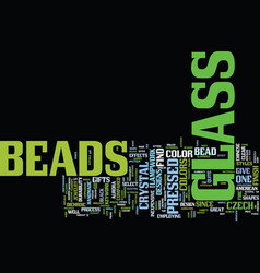 Glass beads text background word cloud concept vector
