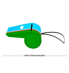 A Beautiful Whistle of The Sakha Republic vector image