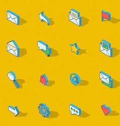 Colorful isometric flat design icon set vector