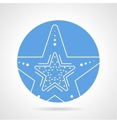 Starfish round icon vector