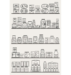 Store shelves 3 vector