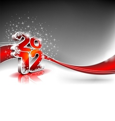 Calendar design 2012 on red wave background vector