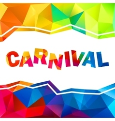 Rainbow colors triangles abstract carnival sign vector