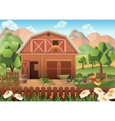 Farm background vector