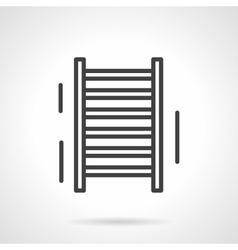 Sports ladder black line icon vector