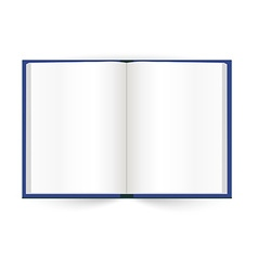 Opened book with white pages vector