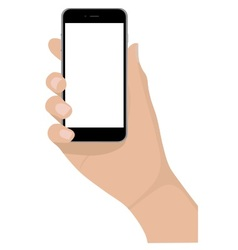 Mobile phone empty screen vector