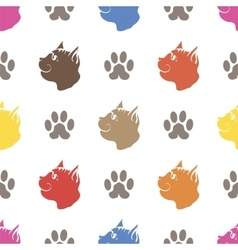 Cat paw seamless animal pattern vector