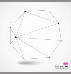 abstract geometric composition forms 3d vector image