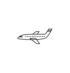 airplane line icon navigation and air transport vector image