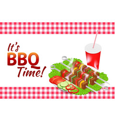barbecue party horizontal banner grill summer vector image vector image