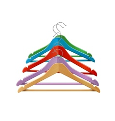 Clothes hangers colored vector image