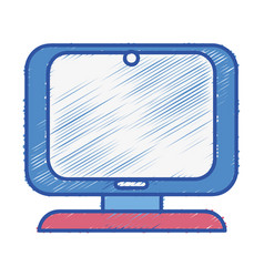 computer digital screen equipment technology vector image