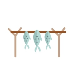 Dried fish vector