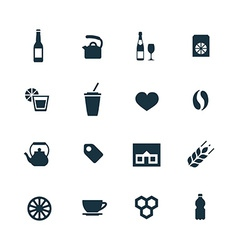 drinks icons set vector image vector image