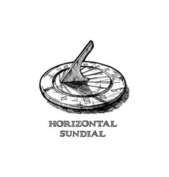Hand drawn of sundial vector